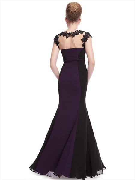 dark purple and black prom dressesdark purple mermaid