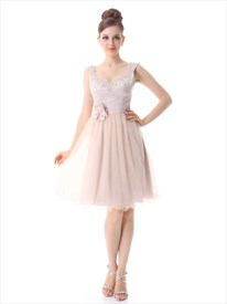 Sparkly Light Pink Cocktail Dress,Pale Pink Cocktail Dresses With Cap Sleeves