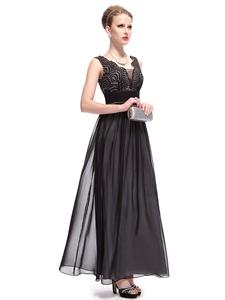 Black Dresses With Embellished Shoulders,Black Embellished Top Prom Dresses