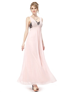 Pale Pink Prom Dresses With Strapless Long,Light Pink Prom Dresses With Black Lace Top