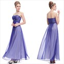 Blue Sweetheart Neckline Prom Dress,Blue And White Prom Dresses