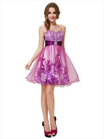Short Purple Cocktail Dresses For Juniors,Purple Homecoming Dresses With Straps