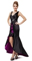 Purple And Black High Low Prom Dresses,Black Mermaid Prom Dresses With Long Front Short Black