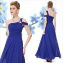 One Shoulder Royal Blue Bridesmaid Evening Prom Ball Dress,One Shoulder Royal Blue Bridesmaid Dresses