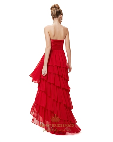 red high low dresses for teenagersred prom dresses 2016