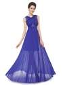 Royal Blue Pleated Maxi Dress,Women'S Elegant Sheer Lace Long Party Dress