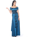 Teal Off The Shoulder Mother Of The Bride Dresses With Cascading Ruffles