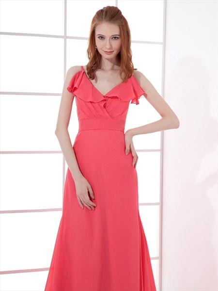 Watermelon Chiffon Dress