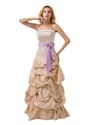 Purple Illusion Neckline Chiffon Prom Dress With Embellished Bodice