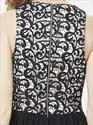 Black Lace Bodice Chiffon Bridesmaid Dress With Split Front Skirt
