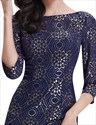 Vintage Navy Blue Sheath Half Sleeve Lace Mother Of The Bride Dresses