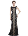 Elegant Black Mermaid Prom Dress With Lace Applique
