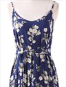 Women'S Floral Print Full Length Maxi Dress With Spaghetti Straps